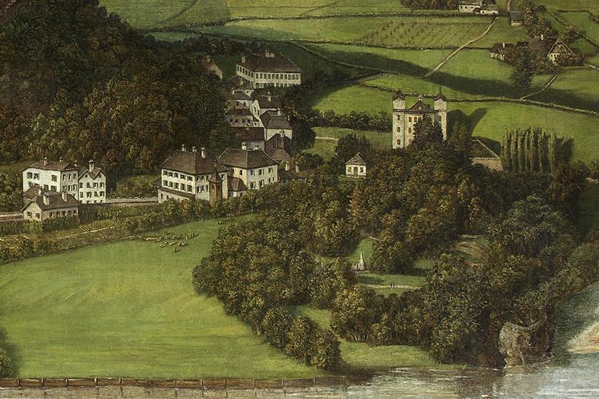 Sattler Panorama Mural, View of Bürglsteingut, Johann Michael Sattler, 1829