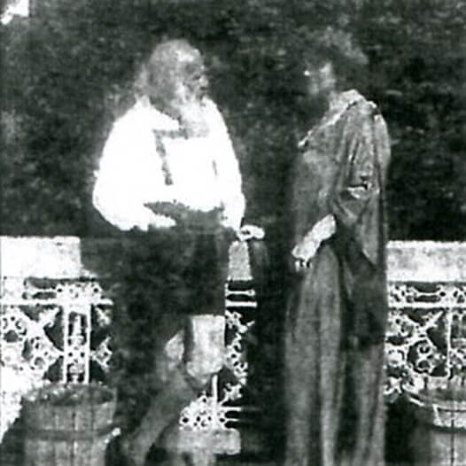 Hermann Bahr and Anna Bahr-Mildenburg on the Terrace, Schloss Arenberg, 1922